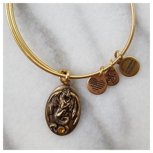 0fb7d2c2a Alex and Ani Jewelry | Alex Ani Dragon Swarovski Crystal Bracelet ...